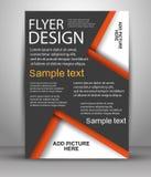 Reklamblad- eller räkningsdesign - affärsvektor för att publicera, tryck och presentation Royaltyfri Fotografi