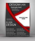 Reklamblad- eller räkningsdesign - affärsvektor för att publicera, tryck och presentation Arkivbilder