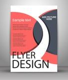 Reklamblad- eller räkningsdesign - affärsvektor för att publicera, tryck och presentation Royaltyfri Bild