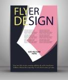Reklamblad- eller räkningsdesign - affärsvektor för att publicera, tryck och presentation Arkivbild