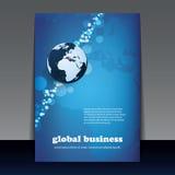 Reklamblad- eller räkningsdesign - global affär Royaltyfri Foto