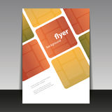 Reklamblad- eller räkningsdesign med den abstrakta rutiga modellen Royaltyfria Foton