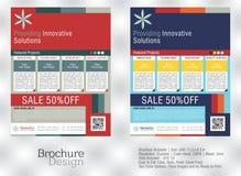 Reklamblad för affär i idérika två olika färger Arkivbilder