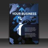 reklamblad för affärsdesign Arkivfoton