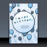 reklamblad för design för födelsedagkorträkning Royaltyfri Fotografi