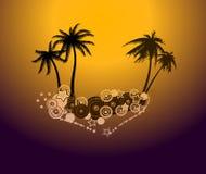 Reklamblad för disko för sommarmusikhändelse Vektor Illustrationer