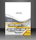 Reklamblad för hästridning Fotografering för Bildbyråer