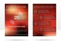 Reklamblad för malldesignadvertizing för företag Royaltyfri Illustrationer