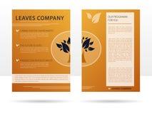 Reklamblad för malldesignadvertizing för företaget Vektor Illustrationer