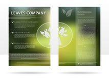 Reklamblad för malldesignadvertizing för företaget Royaltyfri Illustrationer