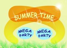 reklamblad för sommarpartivektor Royaltyfria Foton