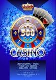 Reklamblad för vektormallpromo för kasinonattparti Arkivbilder