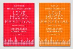 Reklamblad för Minimalistic musikfestival Royaltyfri Fotografi