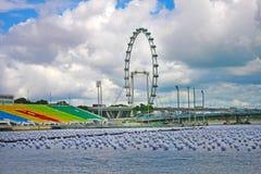 reklamblad singapore Arkivbilder