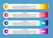 Reklamblad som är infographic för affär Royaltyfria Foton