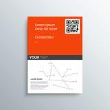 A4 / Reklambladdesign för format A3 med din text Royaltyfri Fotografi