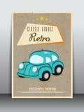 Reklambladdesign för garage Royaltyfria Bilder