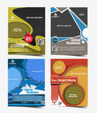 Reklambladdesign för global affär Arkivfoton