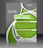Reklambladdesign för global affär vektor illustrationer