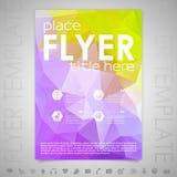 Reklambladdesignmall Arkivbild