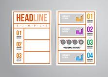Reklambladdesignmall vektor illustrationer