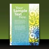 Reklambladet eller täcker design - numrerar Fotografering för Bildbyråer