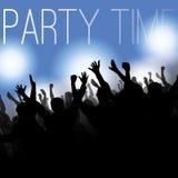 Reklambladet eller täcker designen - partit Time Royaltyfria Foton