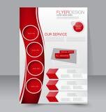 Reklambladmall Blå abstrakt orienteringsmall med fyrkanter Redigerbar affisch A4 Royaltyfria Bilder
