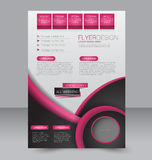 Reklambladmall Geometrisk orientering av broschyren Räkning för affär A4 Royaltyfria Foton