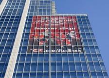 Reklameanzeige für den NHL 2011 alles Stern-Spiel Stockfoto