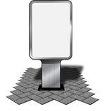 Reklameanzeigeanschlagtafel Stockbild