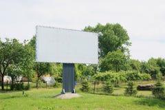 Reklamefläche in der Natur Stockbild