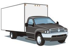 Reklamfilmen åker lastbil Arkivbild