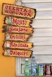 Reklamować dla kubańskiego koktajlu andd miękkich napojów Fotografia Royalty Free