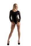 reklamowa bielizna Śliczny model w seksownym bodysuit Zdjęcia Royalty Free