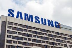 Reklamować Samsung na dachu hotel Obraz Stock