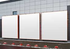 reklamowego ślepej billboardu znaku przestrzeni Obrazy Royalty Free