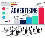 Reklamowej kampanii marketingowej Promocyjny Oznakuje pojęcie Zdjęcia Stock