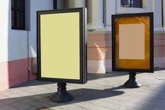 Reklamowi metali stojaki Fotografia Stock