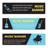 Reklamowi muzykalni sztandary Zdjęcie Royalty Free