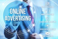 reklamowy online Zdjęcie Stock