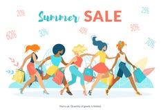 Reklamowy Plakatowy Wpisowy lato sprzedaży mieszkanie ilustracja wektor