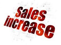 Reklamowy pojęcie: Sprzedaż wzrost na Cyfrowego tle zdjęcie royalty free
