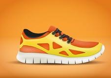 Reklamowy sporta plakat w pomarańczowym kolorze Obraz Royalty Free