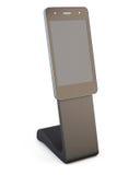 Reklamujący, ewidencyjnego biurka telefon odizolowywający na białym tle Obrazy Stock