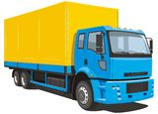 Reklamy ciężarówka Fotografia Stock