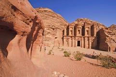 reklamy deir Jordan monasteru petra Obrazy Stock