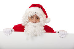 reklamy deska Claus trzyma Santa target2019_0_ Fotografia Stock
