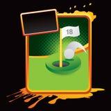 reklamy golfowa grunge dziury jeden pomarańcze Obrazy Royalty Free