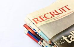 reklamy klasyfikować praca rekrut Obrazy Stock